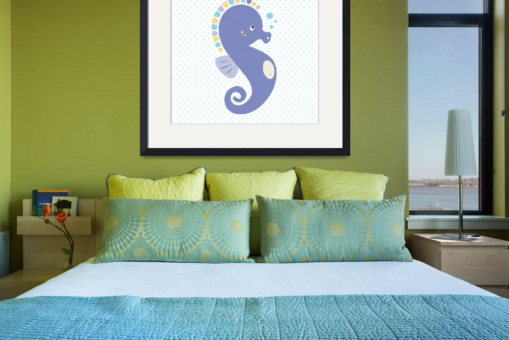 """""""seahorse(white)&quot  by littlebubbies"""