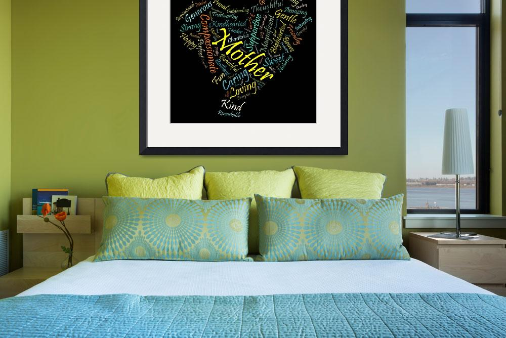 """""""Mother in 100 Words""""  (2012) by citywallart"""