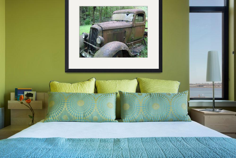 """""""Rusted Vintage Pick-up Truck&quot  (2008) by Philippa"""