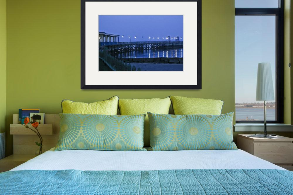 """""""Starry Night On The Ocean Pier&quot  (2008) by PhotographsByCarolFAustin"""