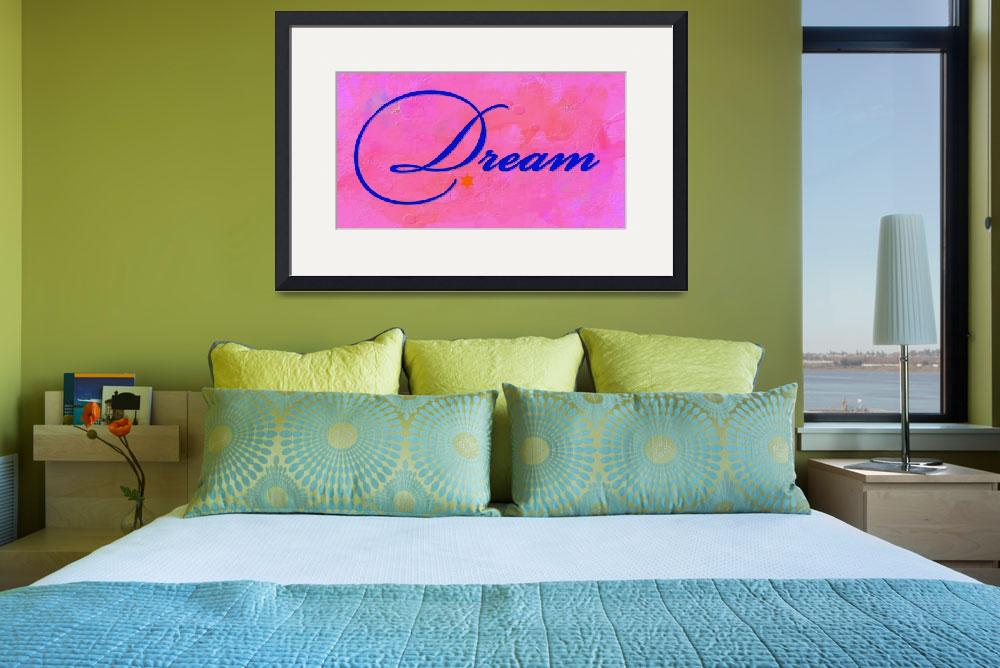 """""""dream blue on pink&quot  by lizmix"""