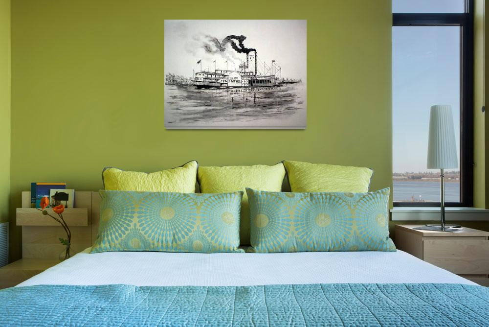 """""""Riverboat BELLE OF MEMPHIS&quot  (2010) by RichardHall"""
