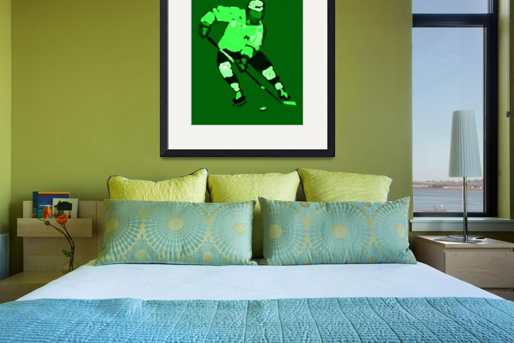 """""""Hockey Left Wing green black (c)&quot  (2014) by edmarion"""