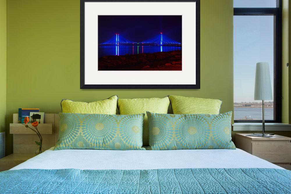 """Indian River Inlet Bridge at Night&quot  by travel"