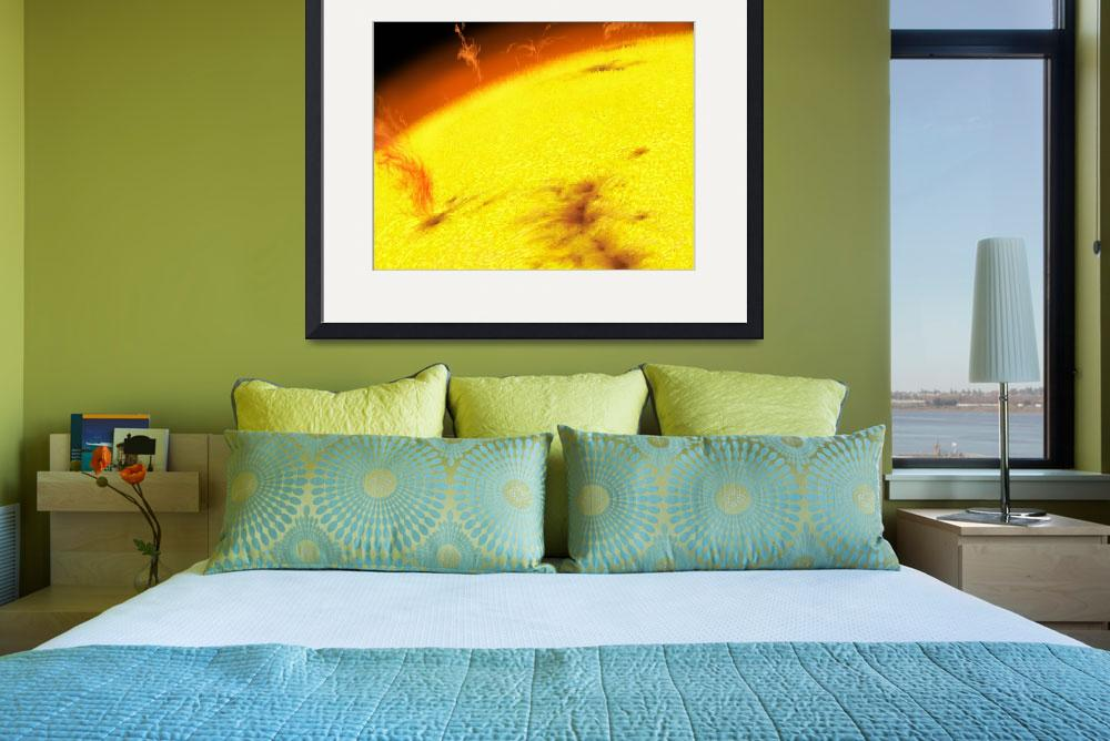 """""""The turbulent surface of our Sun""""  by stocktrekimages"""