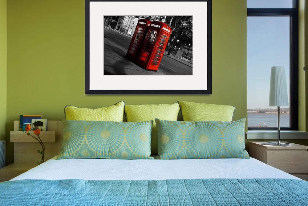 """""""London Red telephones boxes&quot  (2011) by karensimages"""