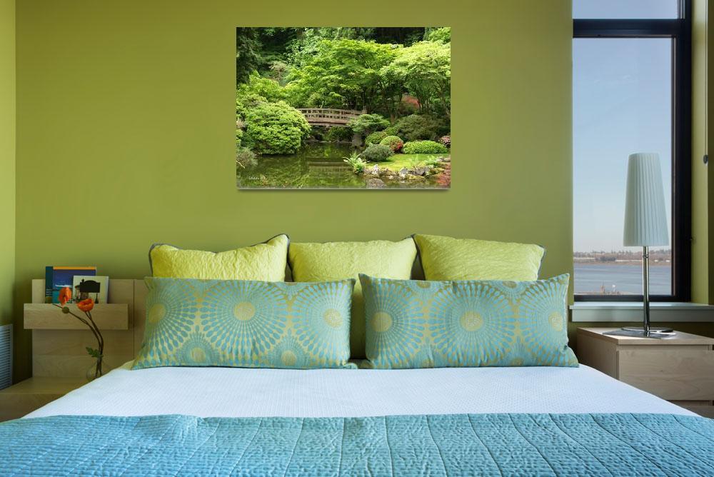 """Bridge to Serenity ~ Portland Japanese Garden&quot  (2008) by inkandbrushcreations"