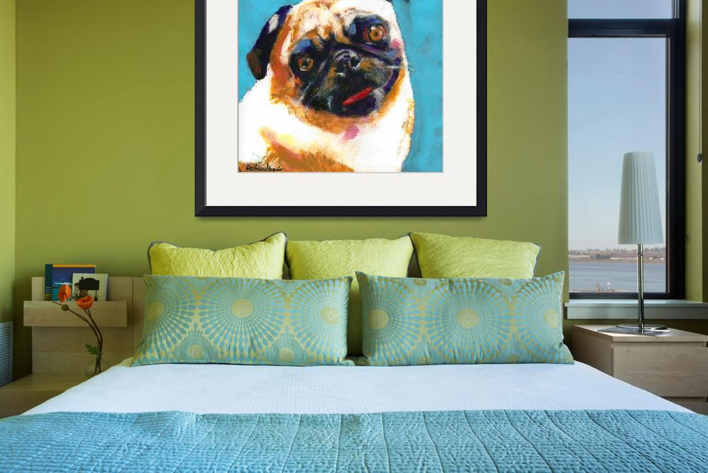 """Pug Blueboy Light Blue""  (2010) by RDRiccoboni"