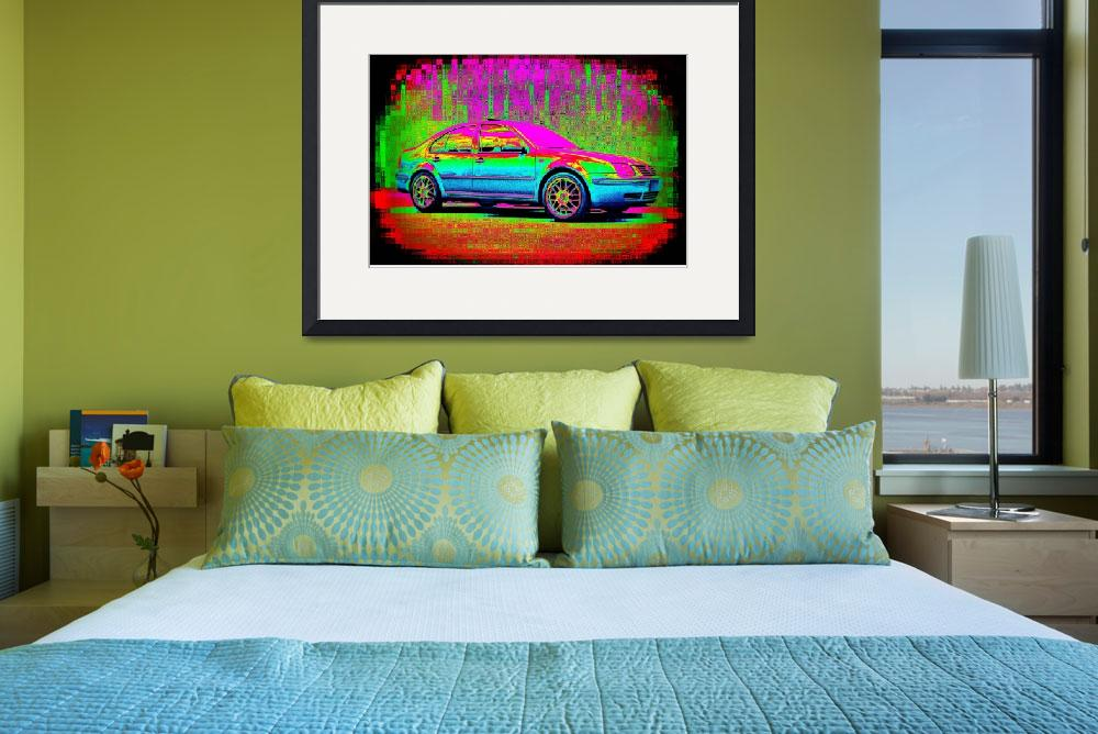"""Textured Technicolor Volkswagen Jetta&quot  (2009) by RegDesigns"