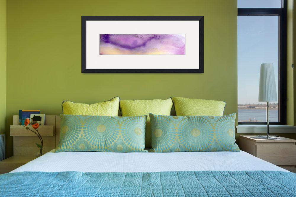 """""""Panoramic Watercolor Abstract Clouds&quot  (2017) by GinetteCallaway"""