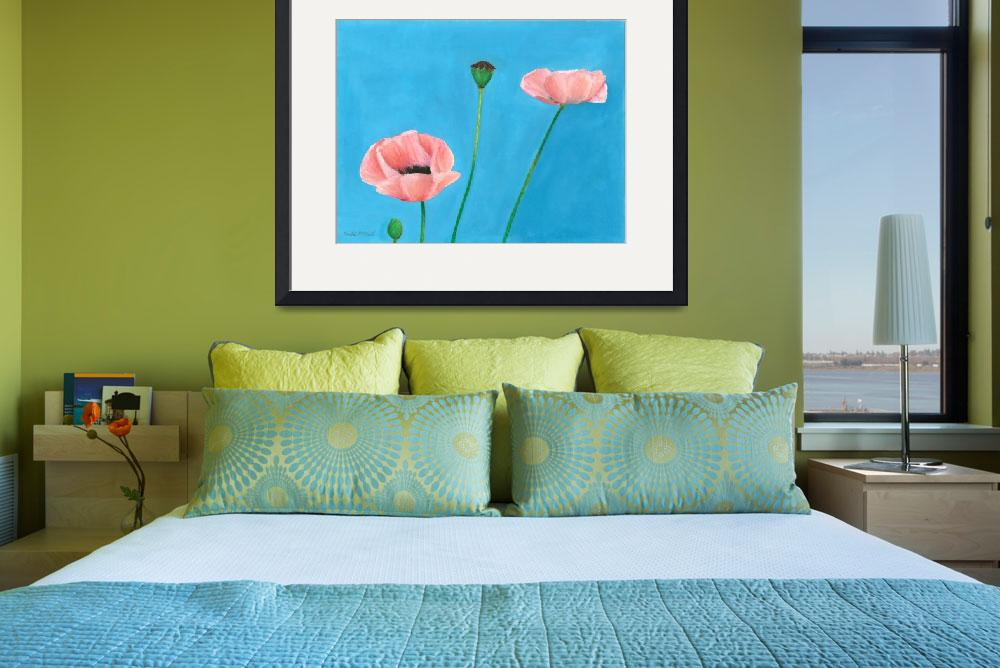 """""""Pastel Poppies""""  (2012) by goforelspeth"""