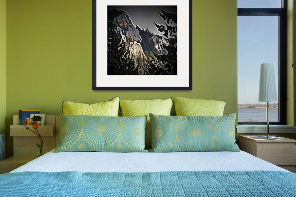 """""""Snowy Mountains Abstract Landscape Art""""  (2014) by SophieDevaro"""