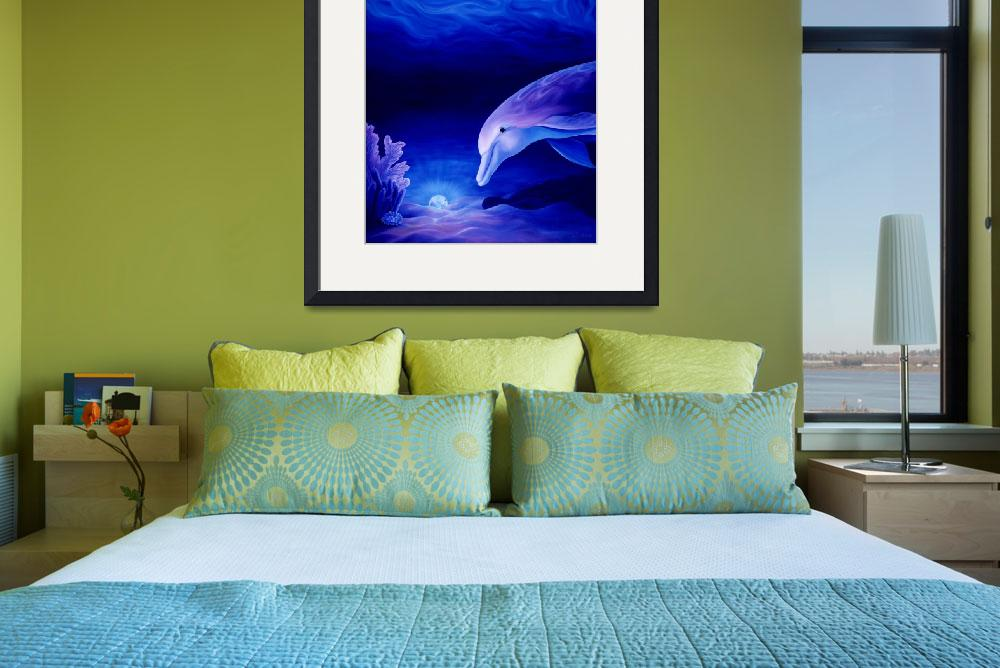 """""""Dolphin and Reef Oil Painting""""  by savanna"""