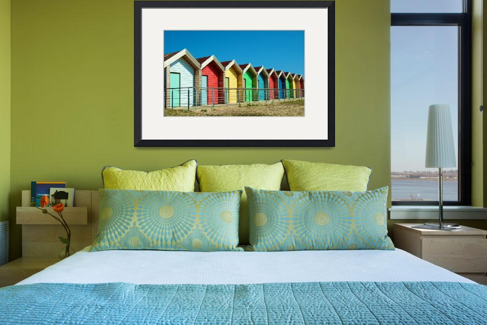 """""""Bright Beach Huts""""  (2010) by ChrisBarry"""
