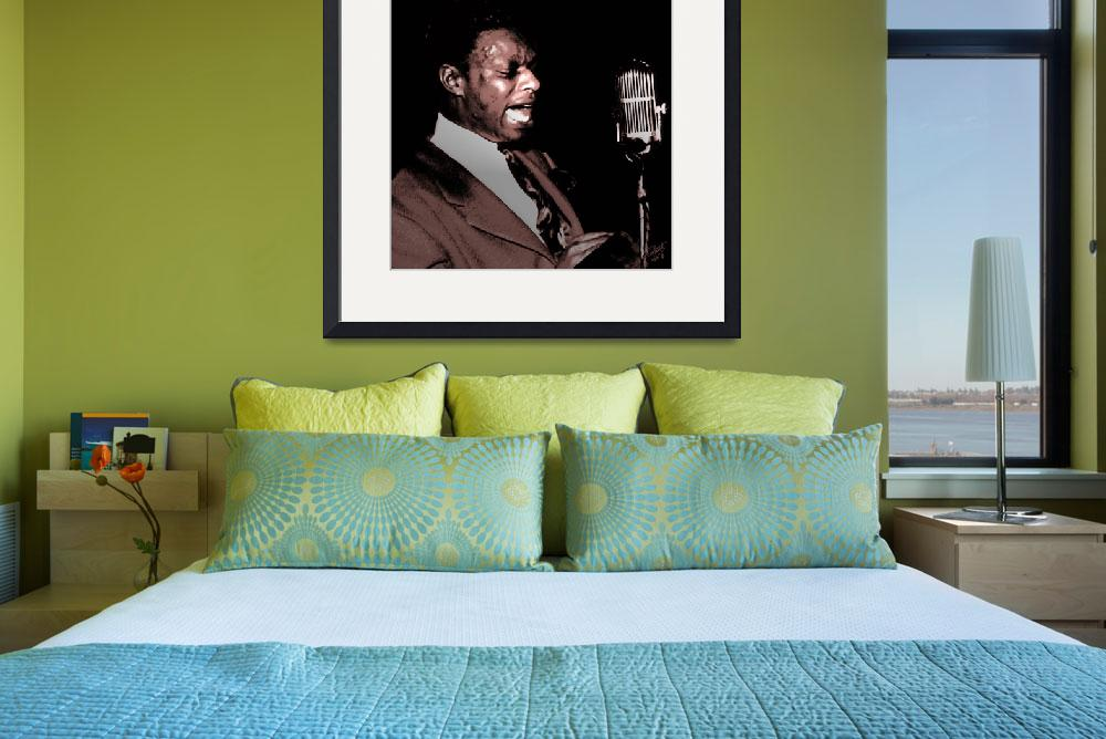 """""""Jazz Singer Nat King Cole&quot  (2010) by spadecaller"""