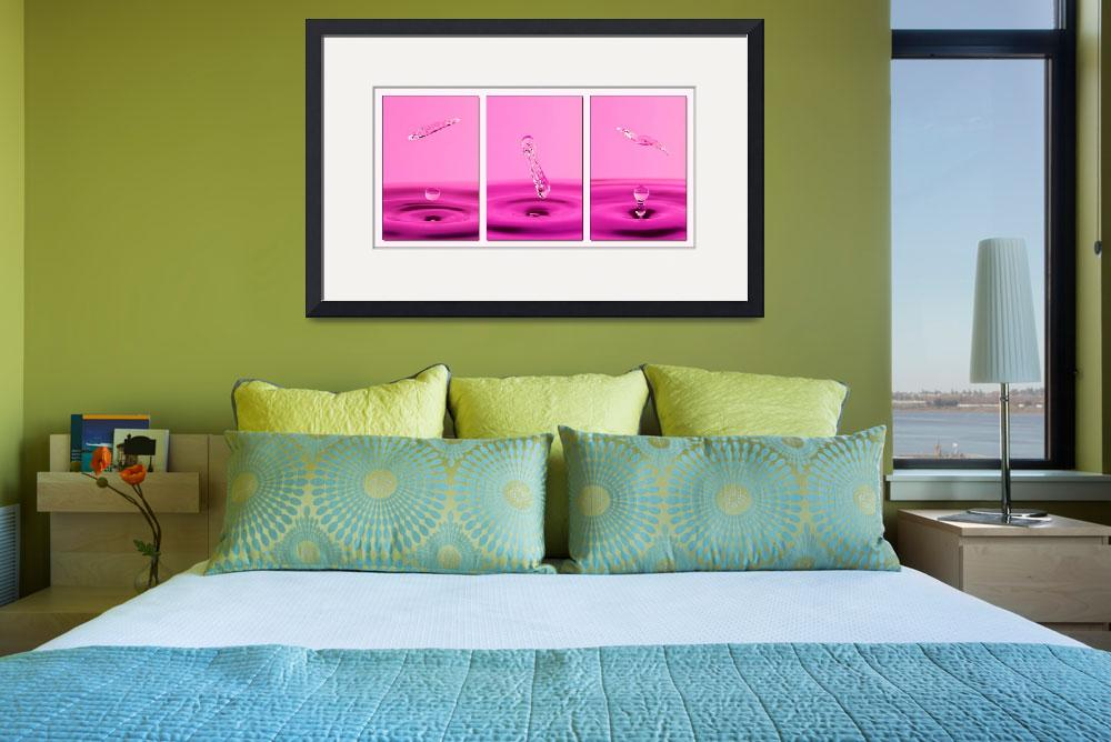 """Pink Water Triptych&quot  (2008) by alicegosling"
