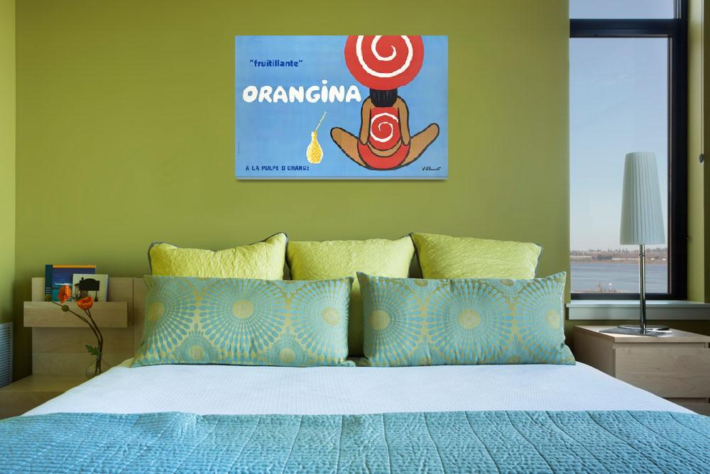 """""""Orangina Vintage Poster""""  by FineArtClassics"""