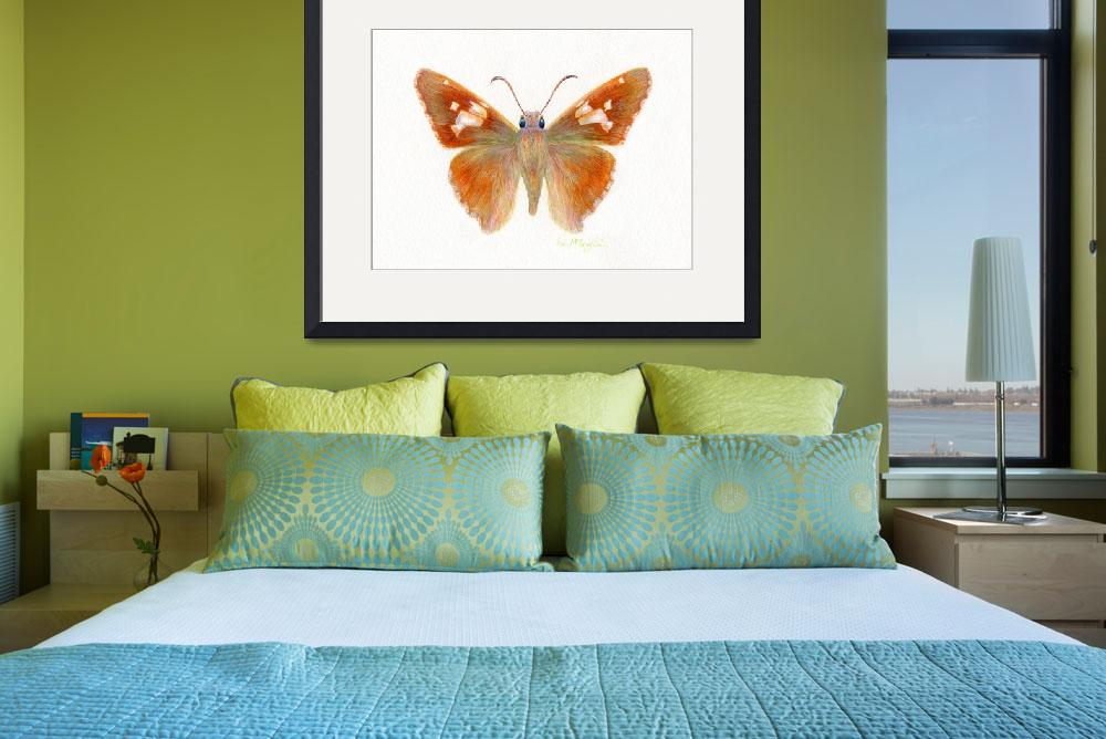 """Silver Spotted skipper butterfly&quot  (2008) by LisaMclaughlin"