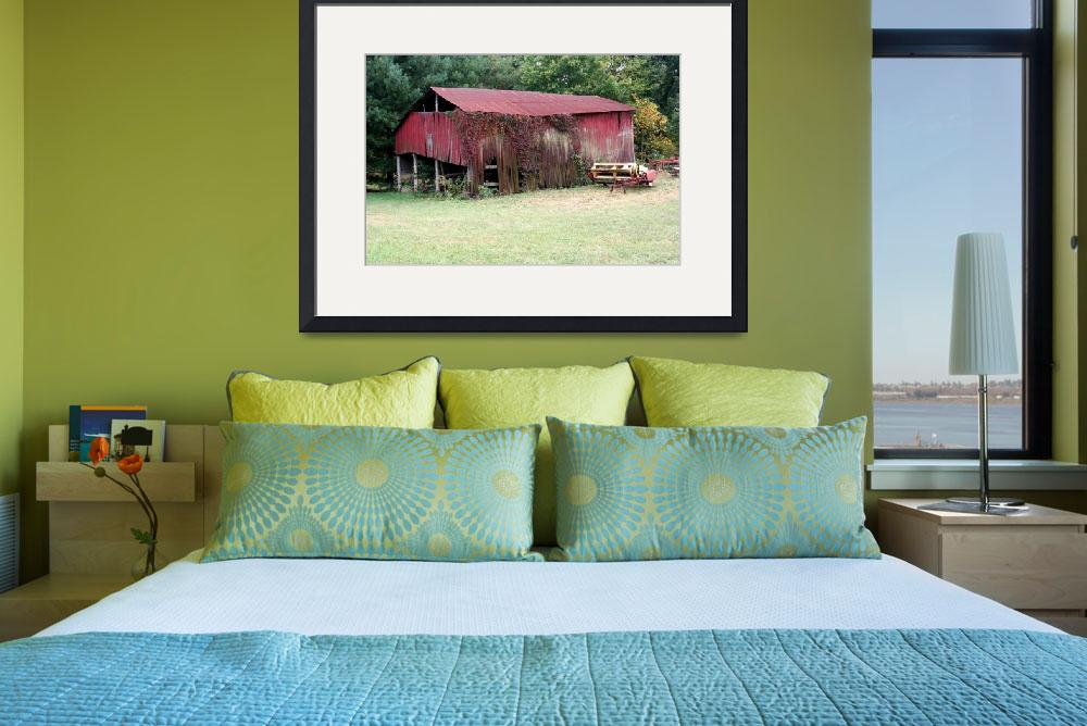 """""""Red barn sence Southern Ohio&quot  by sherryswest"""
