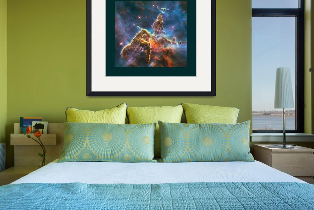 """""""Mystic Mountain in Carina Nebula with large border&quot  (2013) by TheNorthernTerritory"""