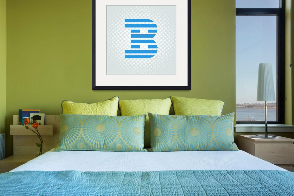 """""""B-IBM&quot  by LetterPopArt"""