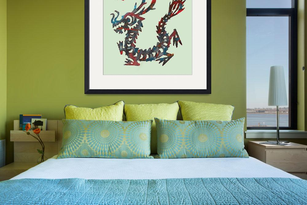 """""""The Chinese Lunar Year 12 Animal - Dragon art&quot  (2013) by visualharbour"""
