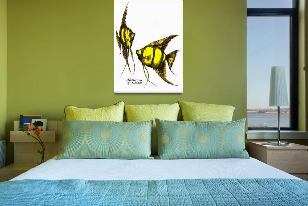 """AngelFish-yellow-orange&quot  (1991) by OgleWarfield"