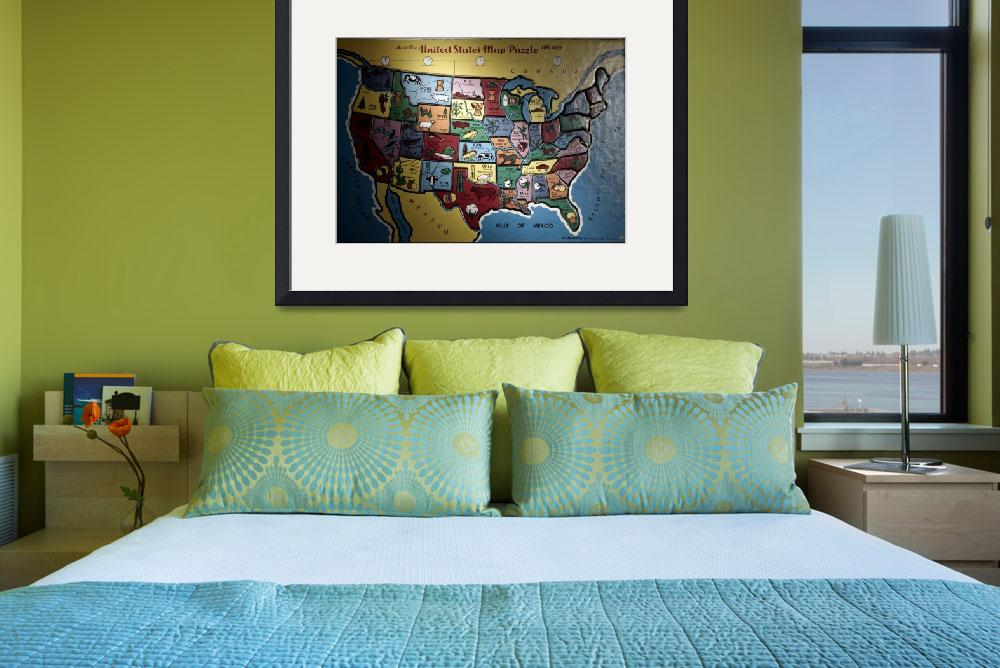 """""""united states map puzzle&quot  (2002) by atlasphotographic"""