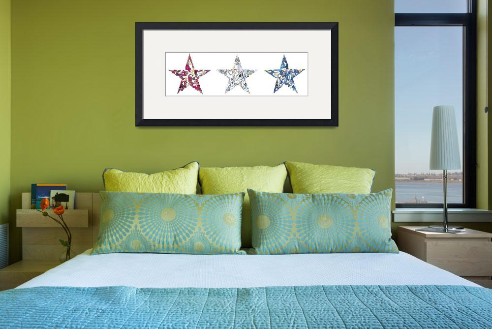 """""""Whimsical Red White and Blue""""  by createdcreating"""