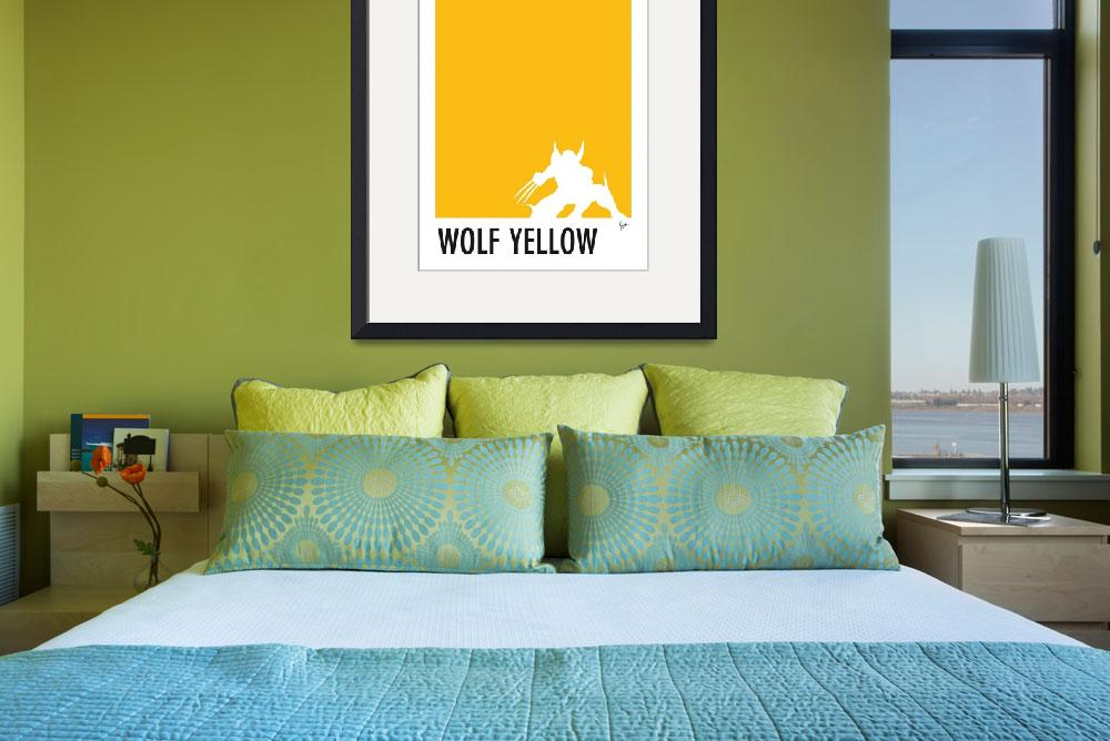 """My Superhero 05 Wolf Yellow Minimal poster&quot  by Chungkong"