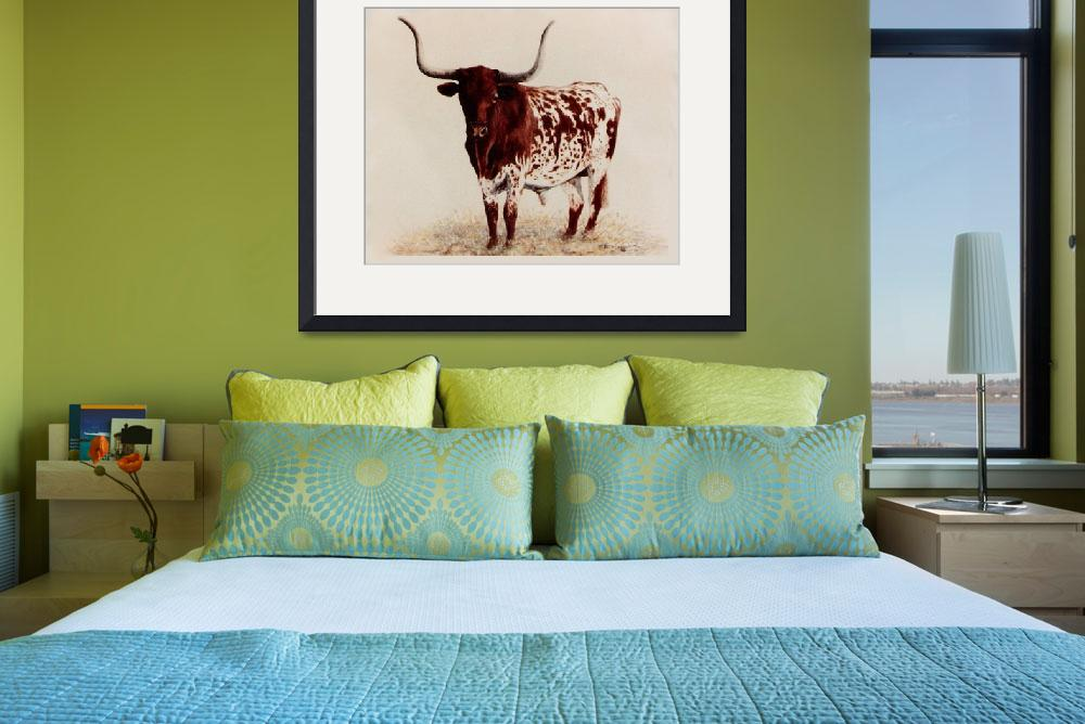 """""""Longhorn painting&quot  by AnimalsbyDiDi"""