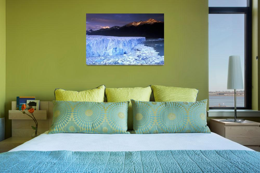 """Sunrise on Glacier Moreno, Patagonia, Argentina&quot  (2005) by Irudi"