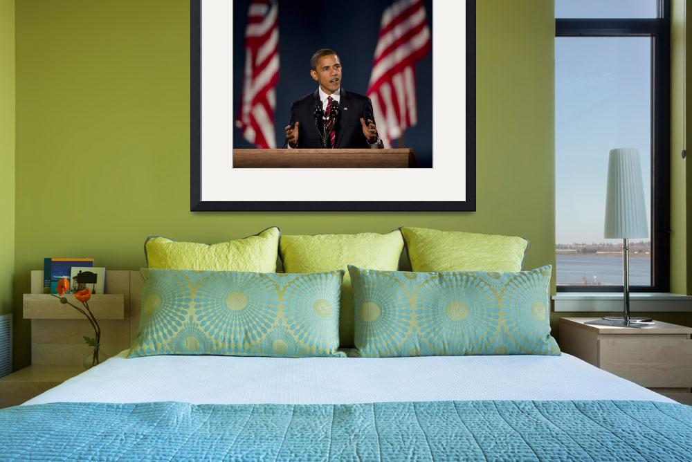 """Barack Obama 5""  (2008) by hestoft"