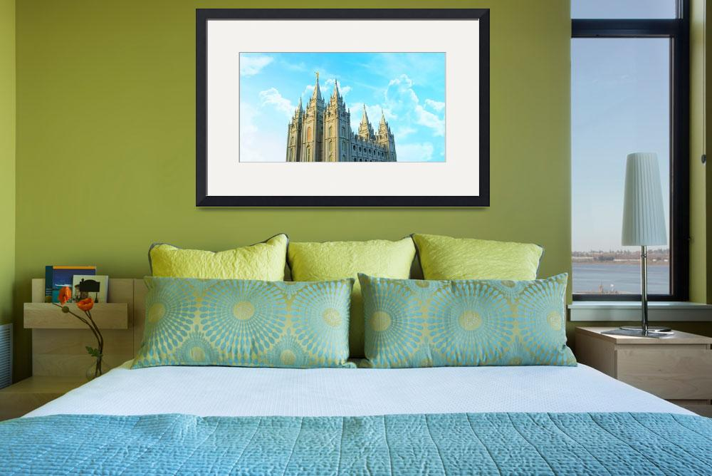 """""""Salt Lake Temple with Clouds""""  by brycegandy"""
