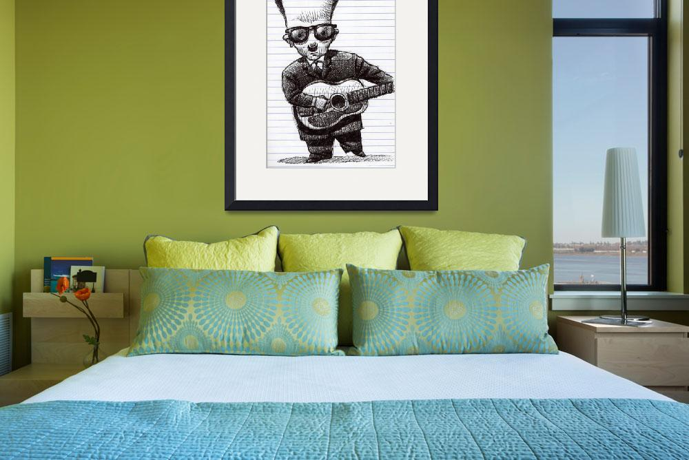 """""""Elvis Costello in Ink&quot  by MikeCressy"""