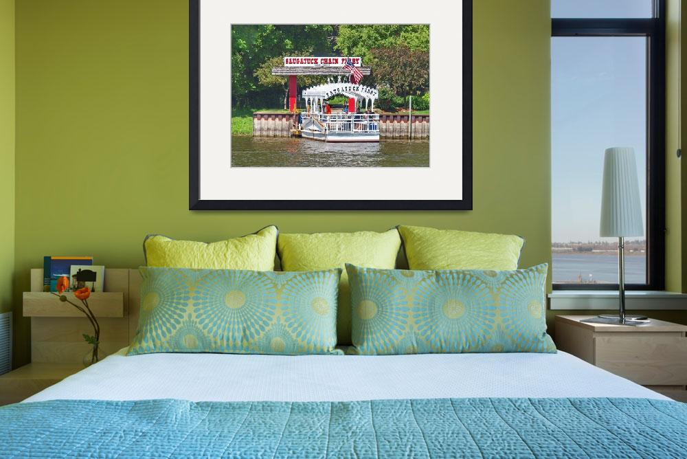 """""""Saugatuck Chain Ferry&quot  (2015) by RedfoxCreations"""