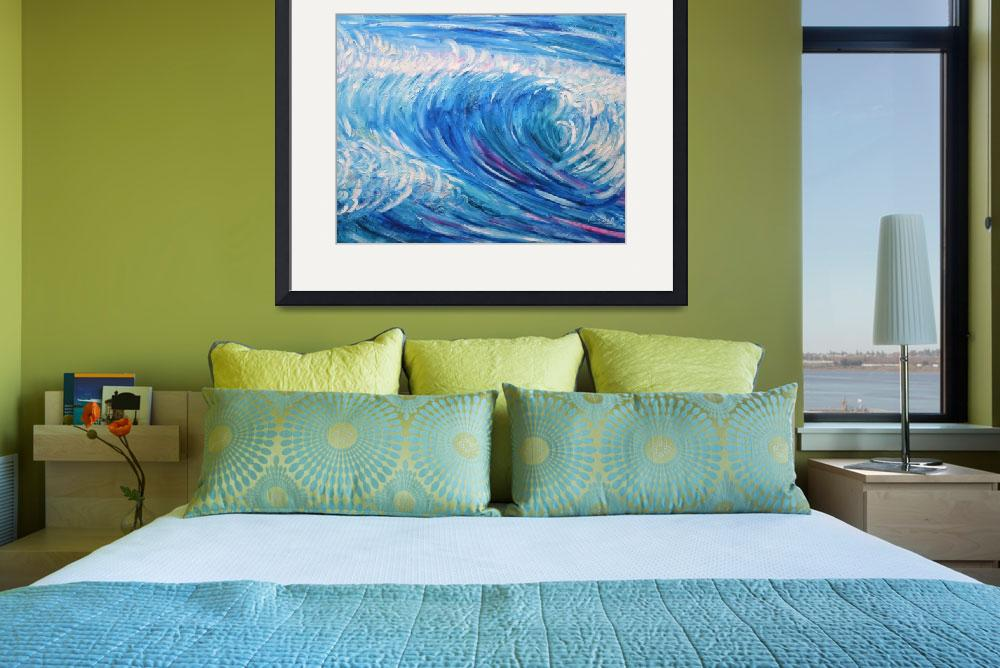 """Surfing Surf and Wave Paintings&quot  by PeteCaswell"