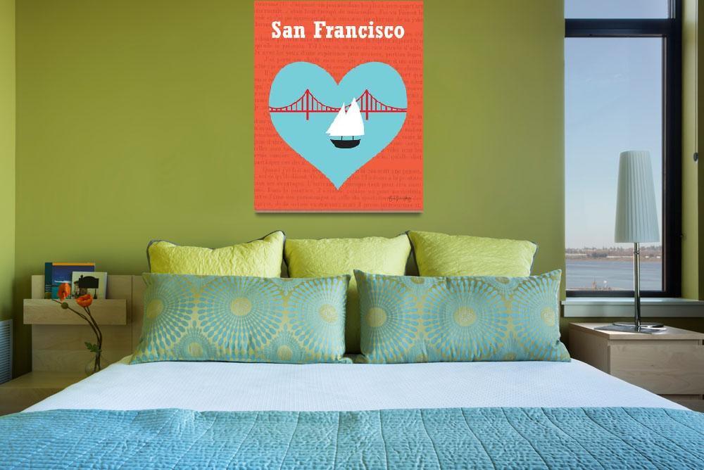 """San Francisco, California -  Heart boat""  (2011) by loosepetals"