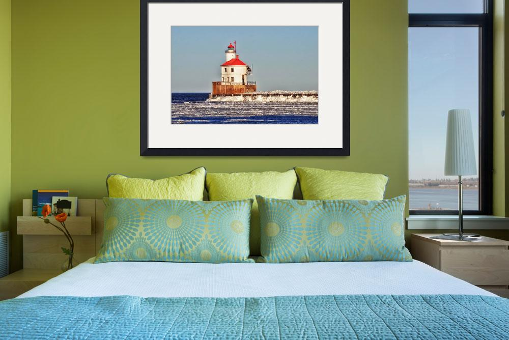 """""""Wisconsin Lighthouse&quot  (2017) by LJdesigns"""