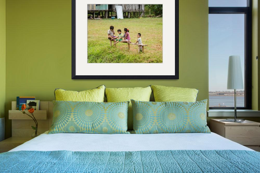 """""""Kids on the Banks of the Amazon&quot  (2014) by awsheffield"""