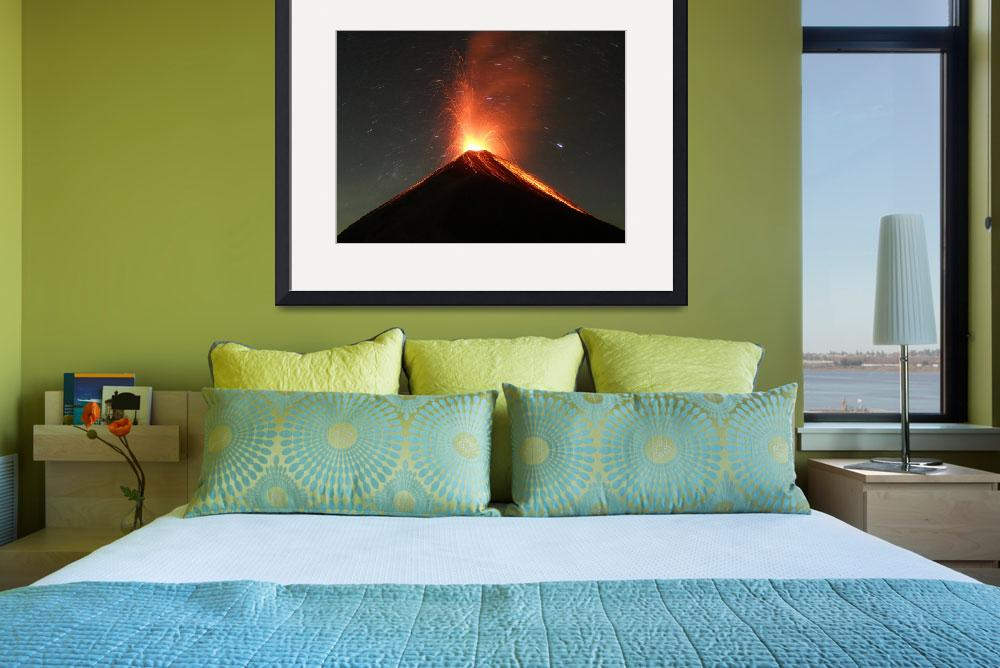 """""""Fuego Erupts on a Moonless Night&quot  (2011) by KevinSebold"""