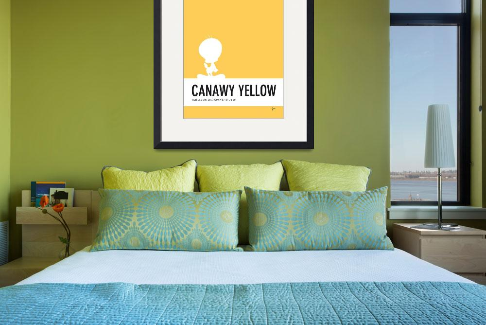 """""""No18 My Minimal Color Code poster tweety&quot  by Chungkong"""