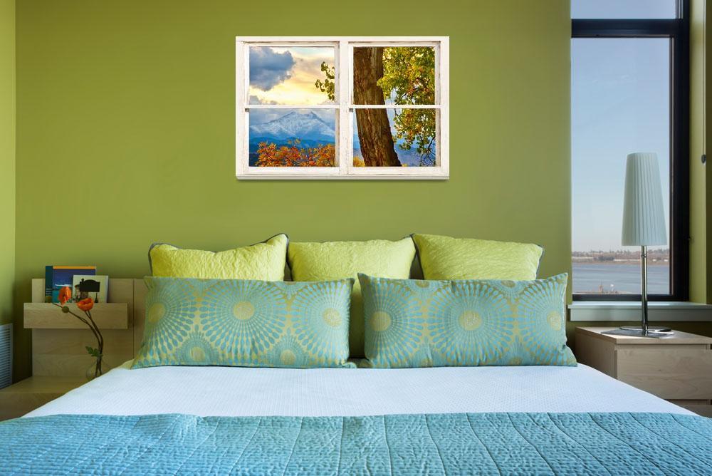"""Colorado Rocky Mountains Rustic Window View""  (2014) by lightningman"