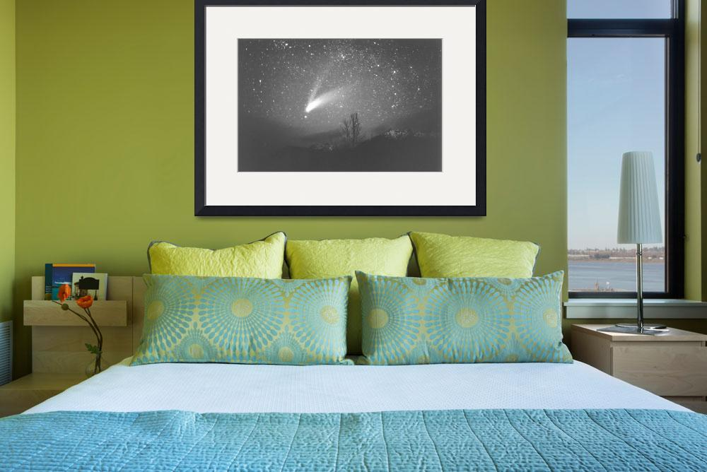 """""""Olympic Mountains / Comet Hale-Bopp""""  (1997) by StarmanMike"""