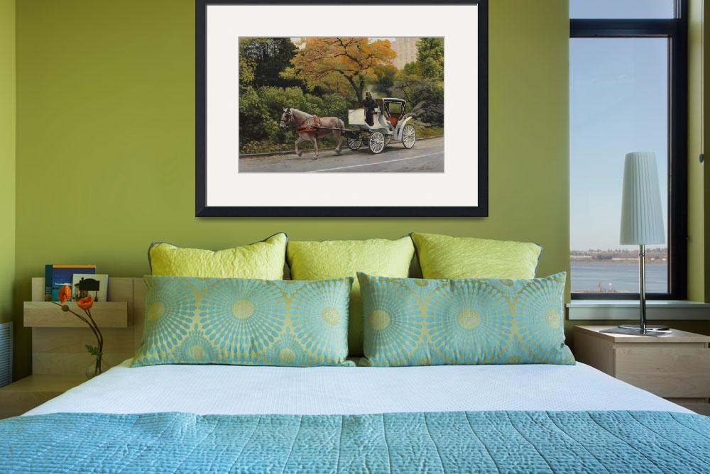 """""""Carriage At Central Park&quot  by artlicensing"""