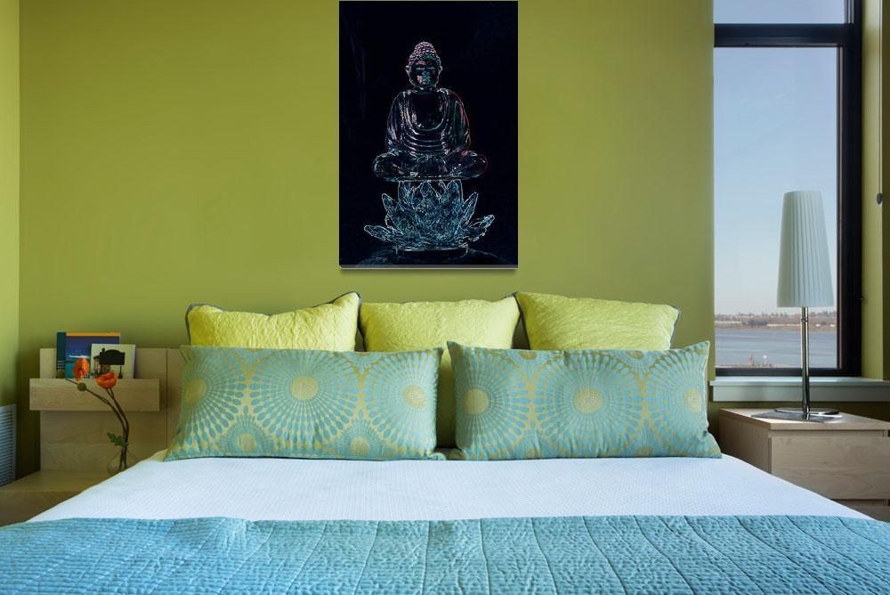 """""""Glowing Buddha""""  (2010) by lwoodburn"""