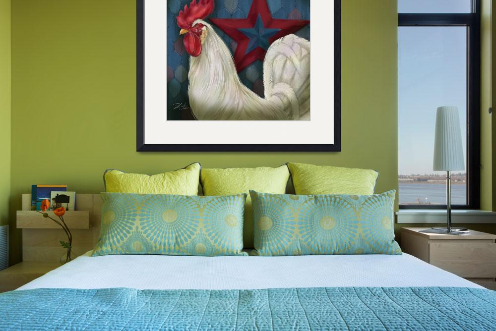 """""""Red Star Rooster""""  (2009) by shariwarren"""
