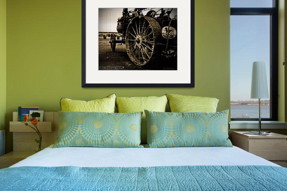 """Russell Steam Tractor""  (2011) by Tapestry"
