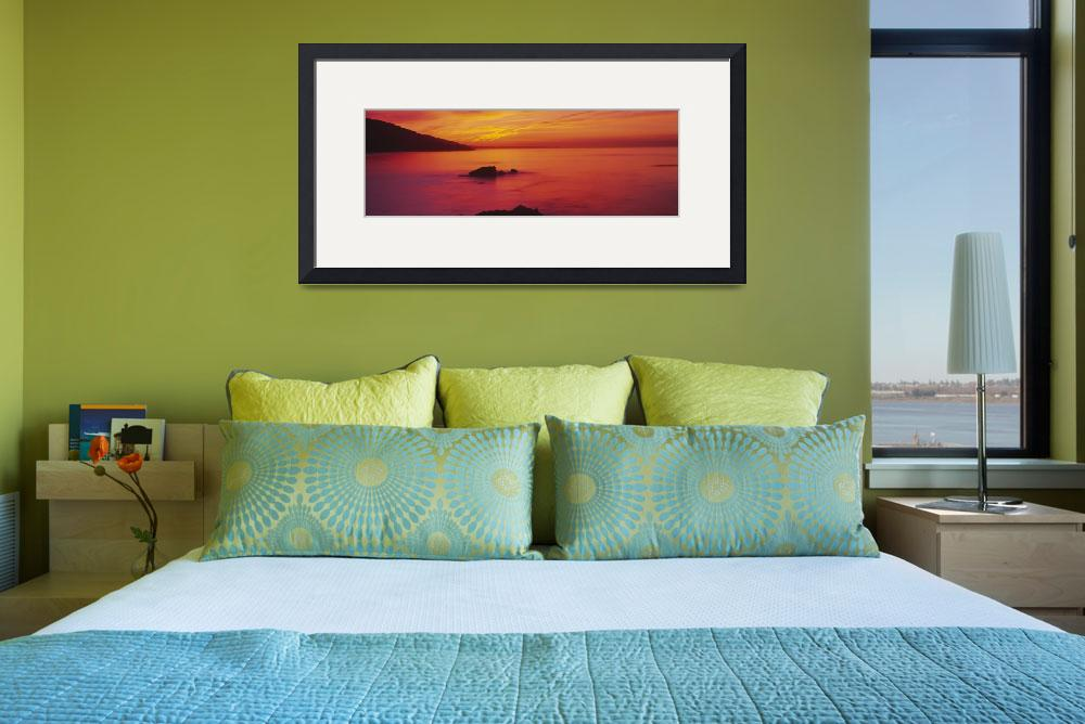 """""""Panoramic view of the sea at dusk""""  by Panoramic_Images"""