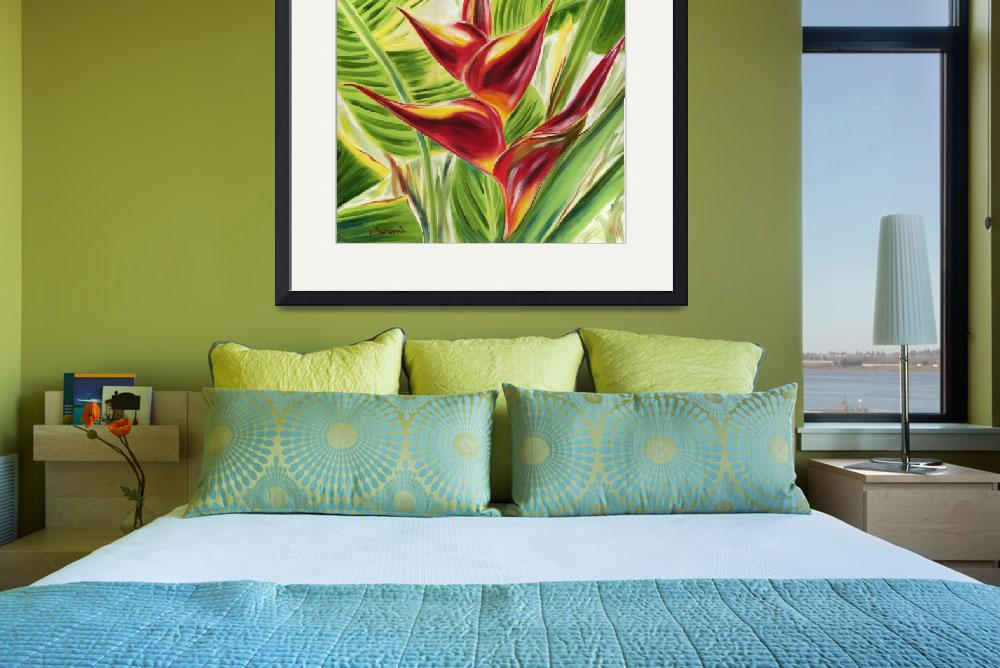 """""""Heliconia Flair&quot  by JennyFloravita"""